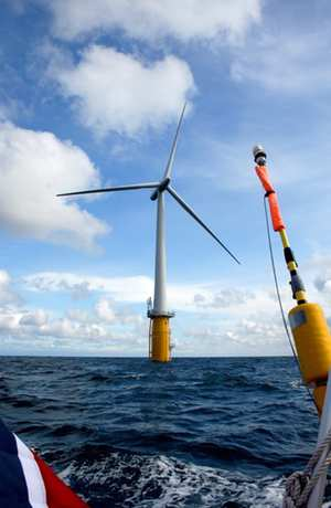 Hywind Floating turbine at sea WEB