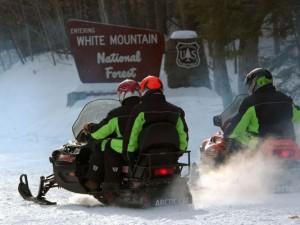 snowmobiles white mountains